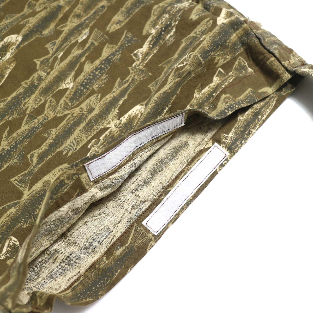 SOUTH2 WEST8 / Book Bag -Printed Flannel / Camouflage (Trout) ベルクロ