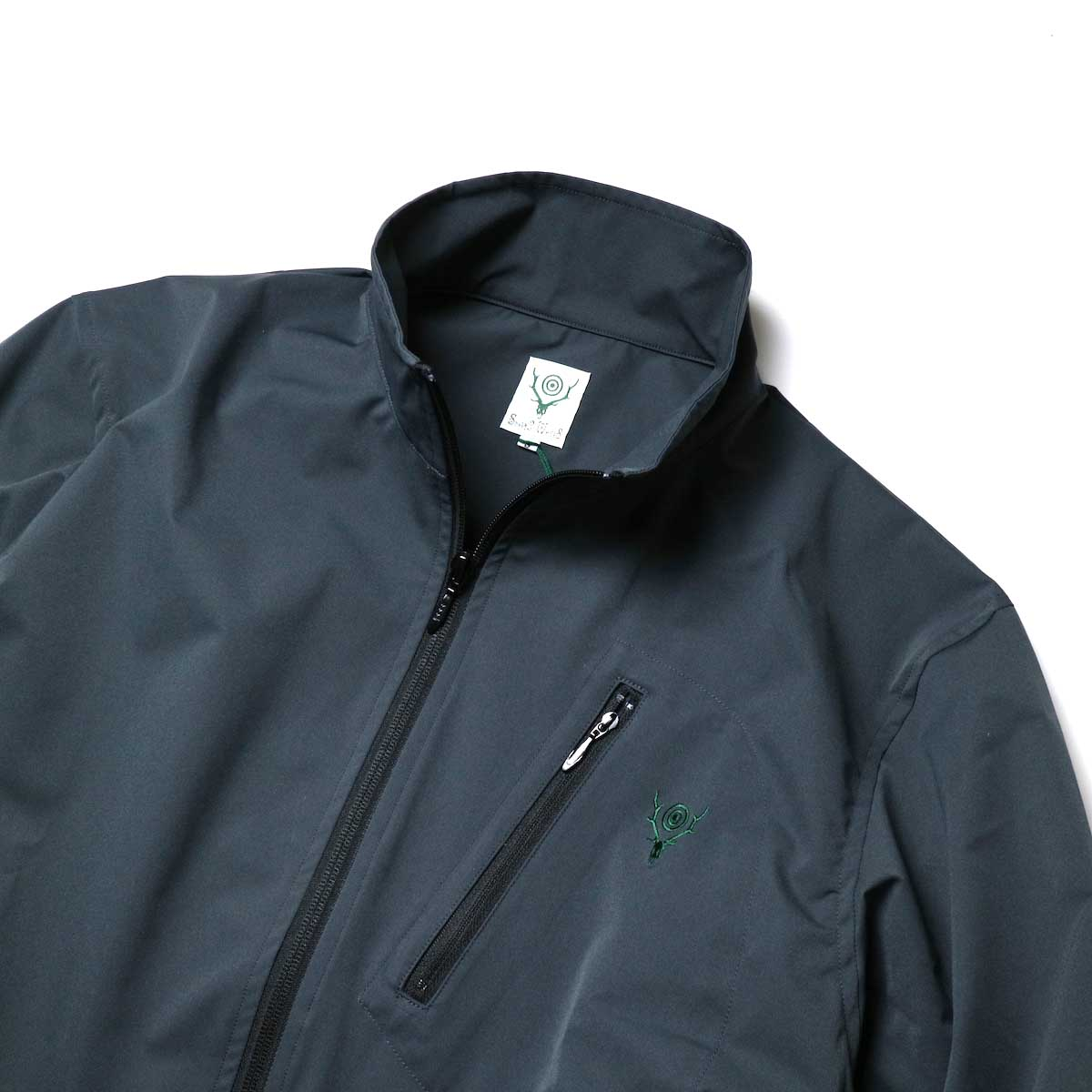 South2 West8 / Boulder Shirt -Poly Stretch Twill (Charcoal)襟