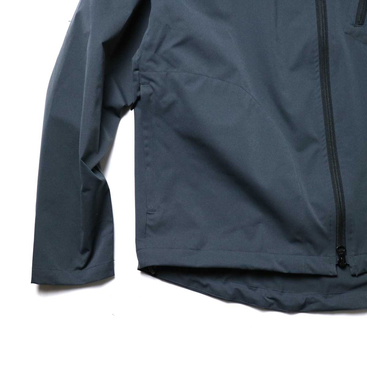 South2 West8 / Boulder Shirt -Poly Stretch Twill (Charcoal)袖、裾