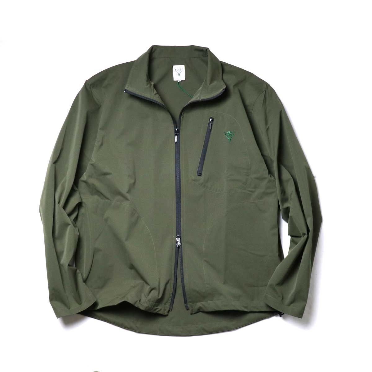 South2 West8 / Boulder Shirt -Poly Stretch Twill (Green)正面