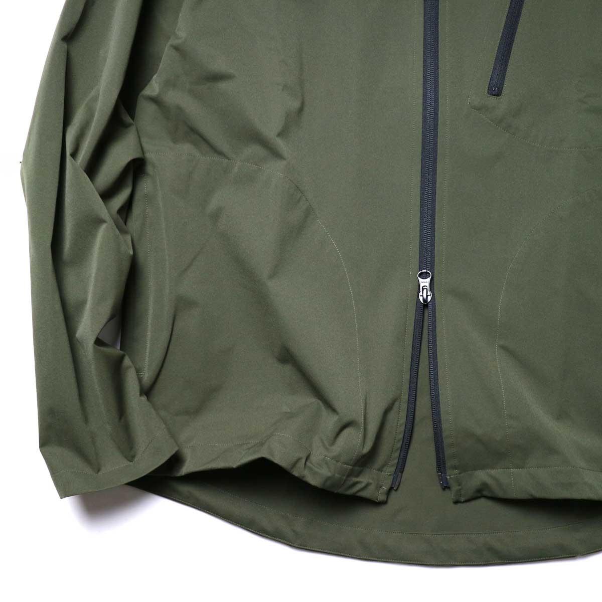 South2 West8 / Boulder Shirt -Poly Stretch Twill (Green)袖、裾