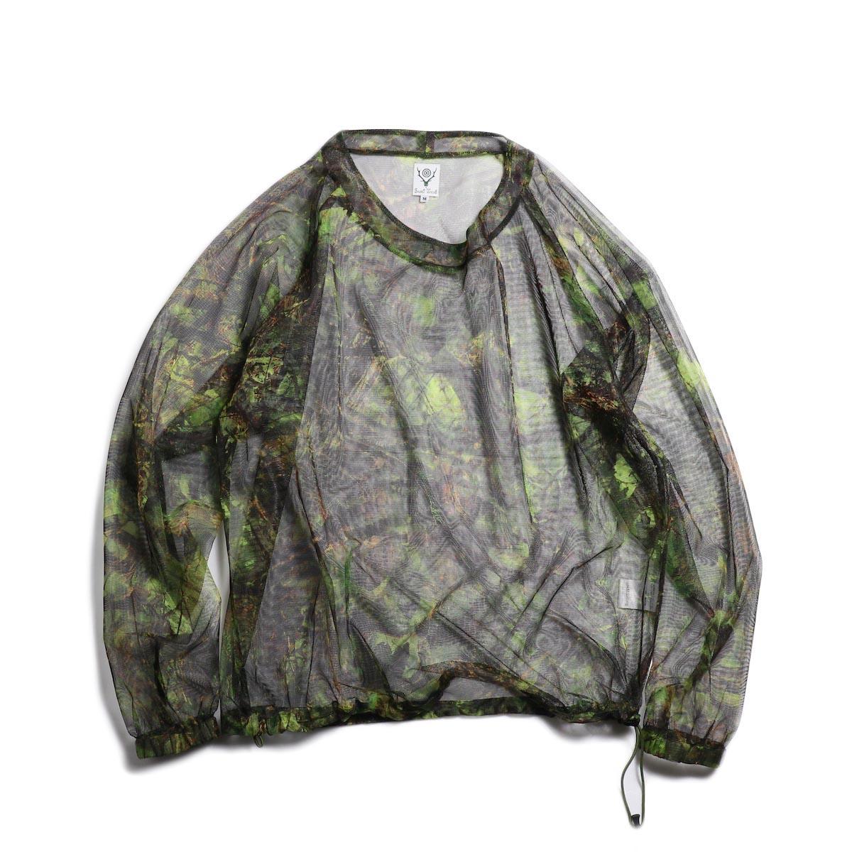 SOUTH2 WEST8 / Bush Shirt -Mesh Print (S2W8 Camo) 正面
