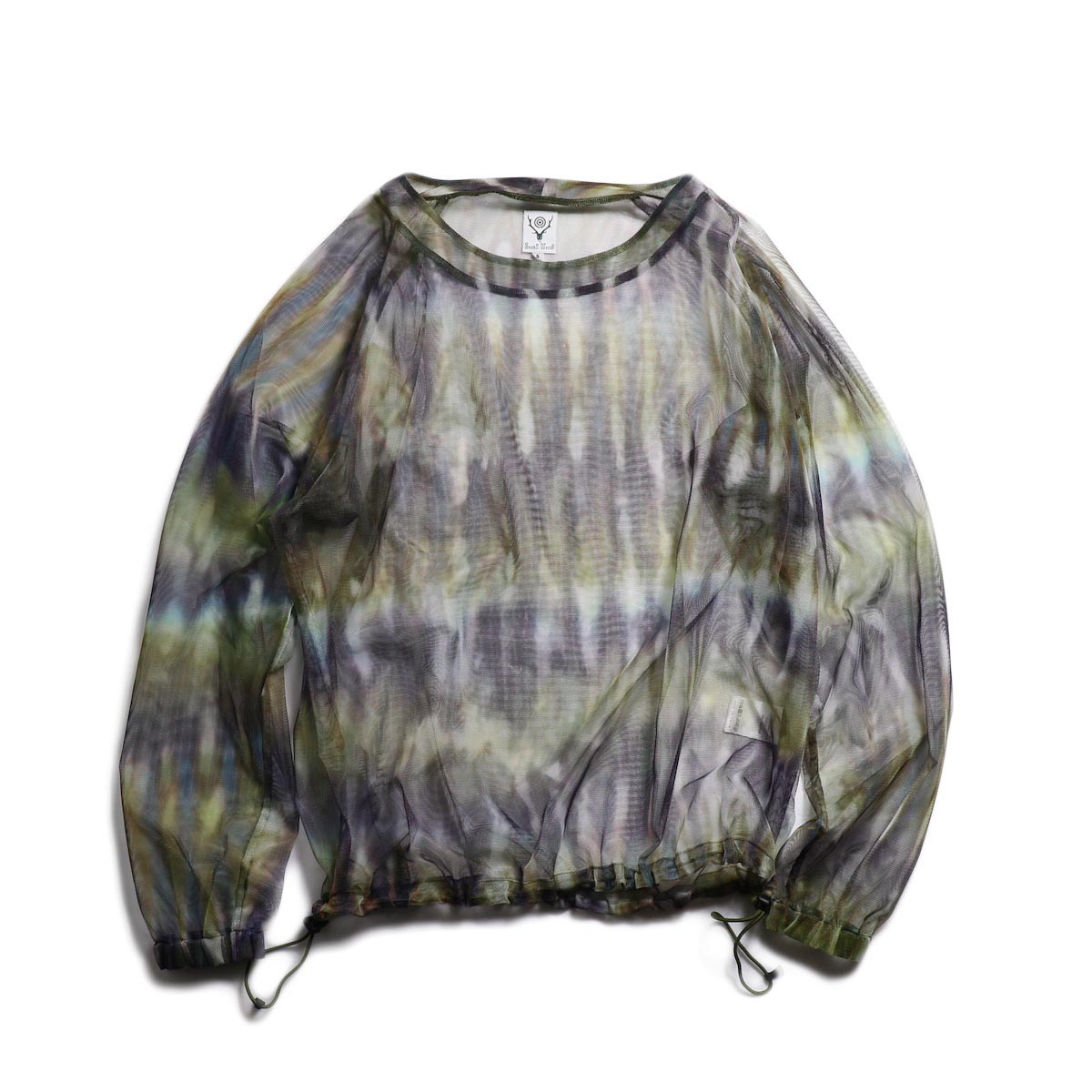 SOUTH2 WEST8 / Bush Shirt -Mesh Print (Tie Dye)