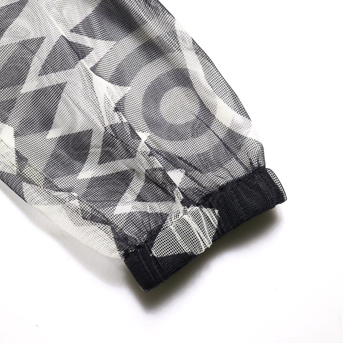 South2 West8 / BUSH SHIRT - Poly Lightweight Mesh / Print (Skull&Target)袖