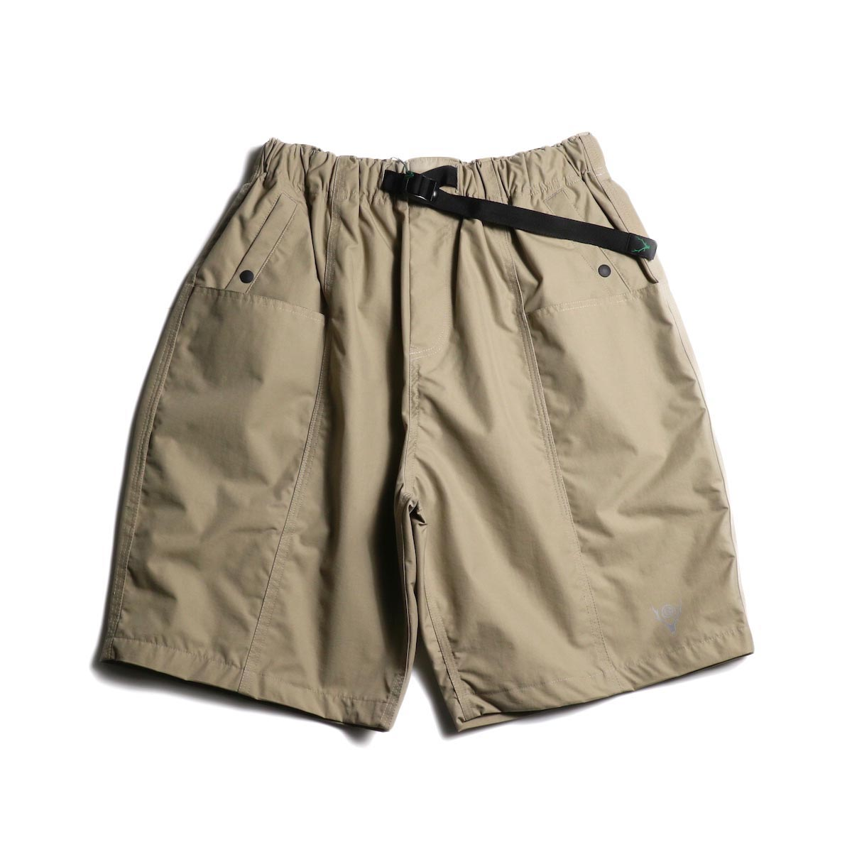 SOUTH2 WEST8 / Belted Center Seam Short -Nylon Tussore (Beige)正面