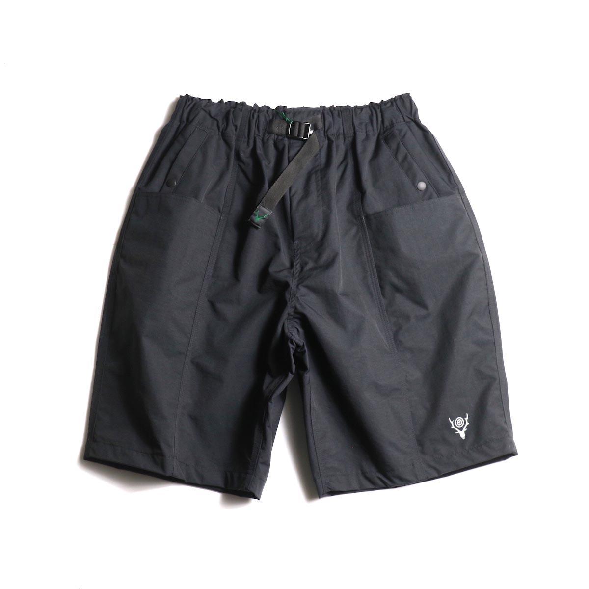 SOUTH2 WEST8 / Belted Center Seam Short -Nylon Tussore (Black)