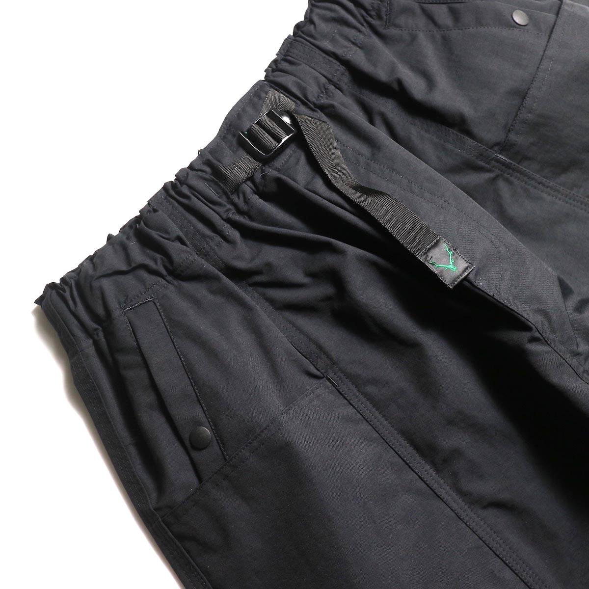 SOUTH2 WEST8 / Belted Center Seam Short -Nylon Tussore (Black) ベルト