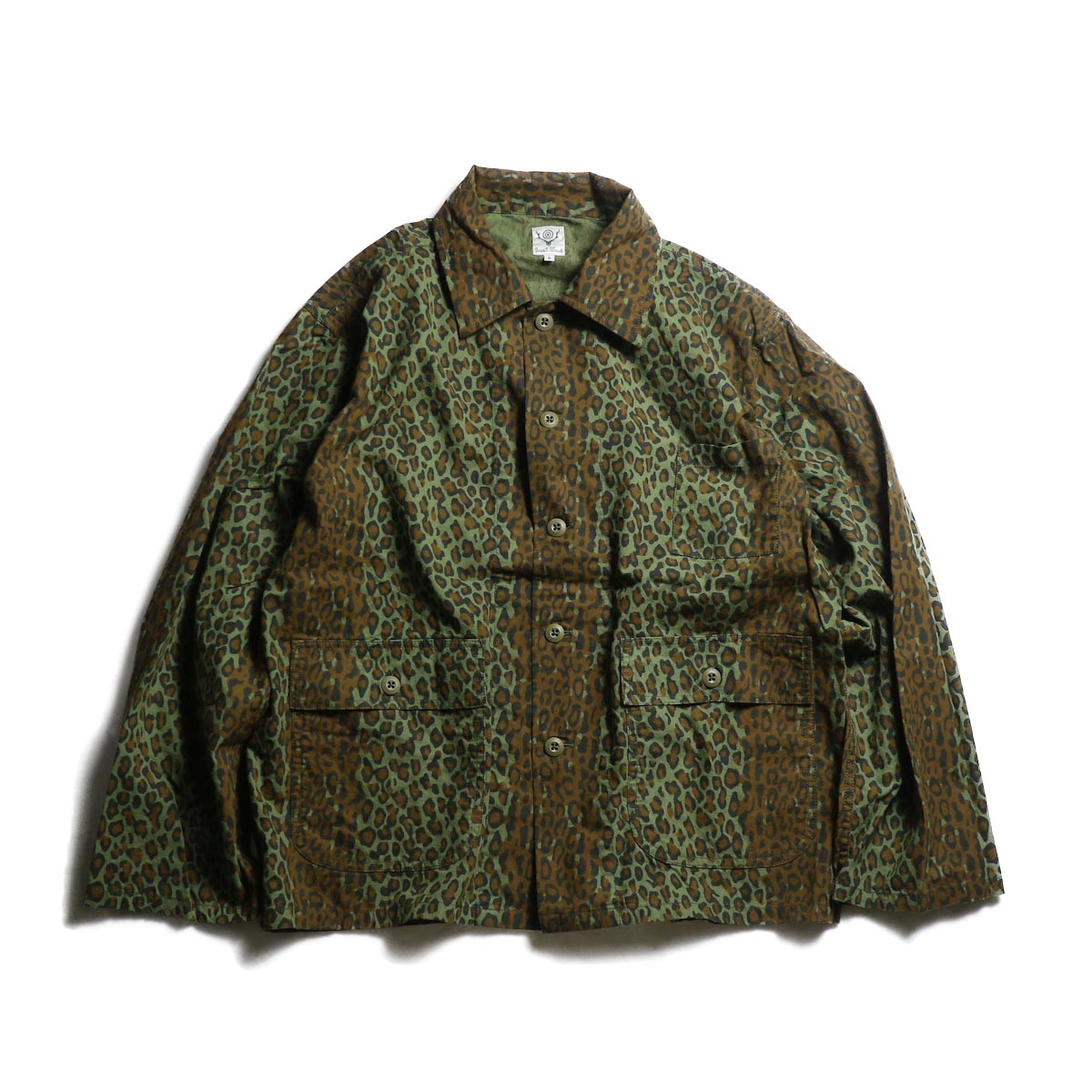SOUTH2 WEST8 / Hunting Shirt - Printed Flannel / Camouflage (Leopard)