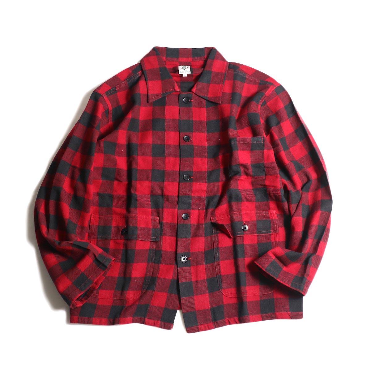 South2 West8 / Hunting Shirt -Plaid Twill (Red/Black)
