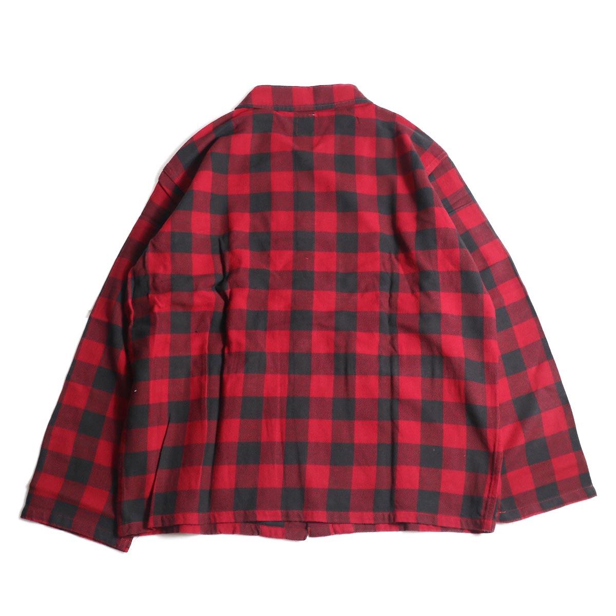 South2 West8 / Hunting Shirt -Plaid Twill (Red/Black)背面