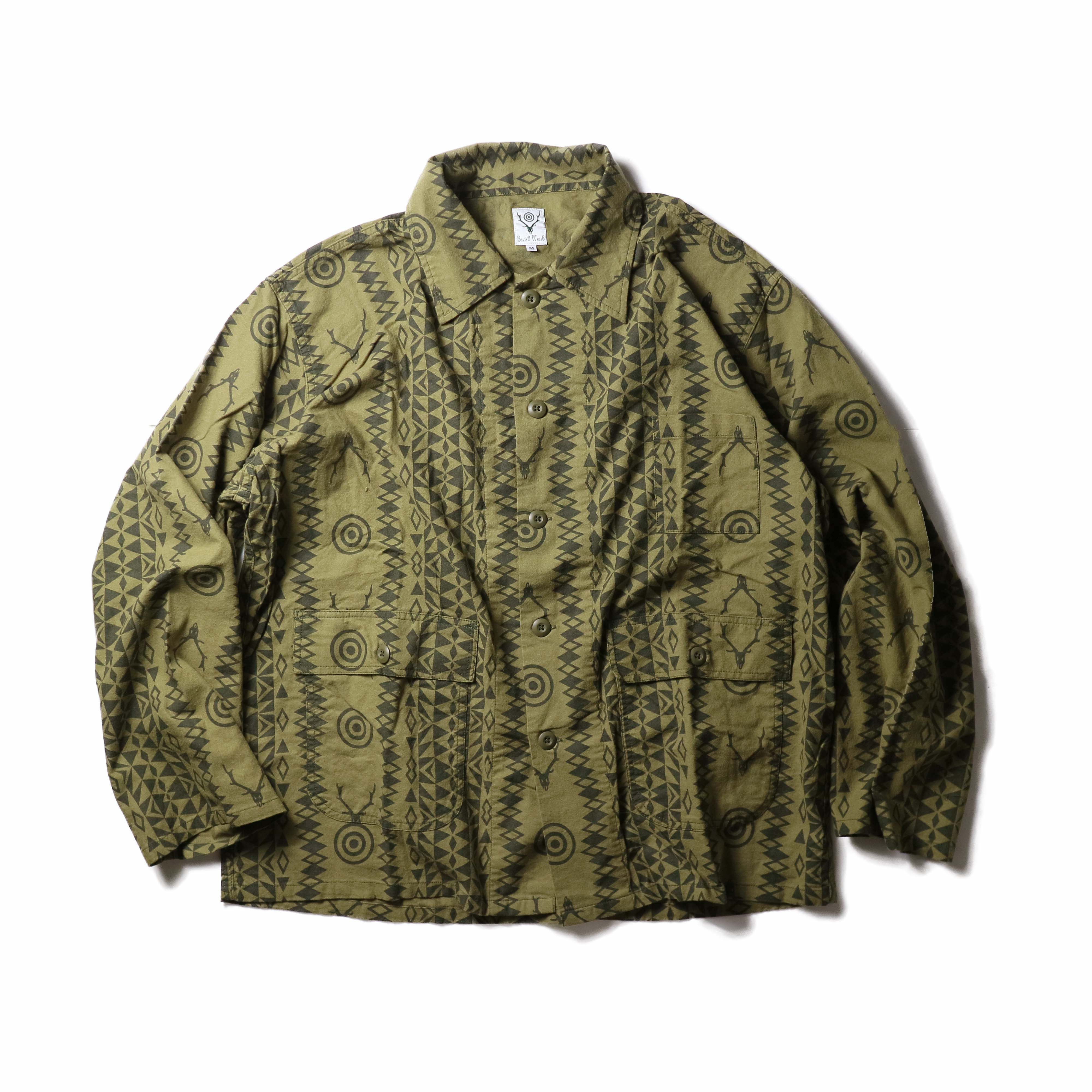 South2 West8 / Hunting Shirt -Flannel Pt. (Skull&Target)