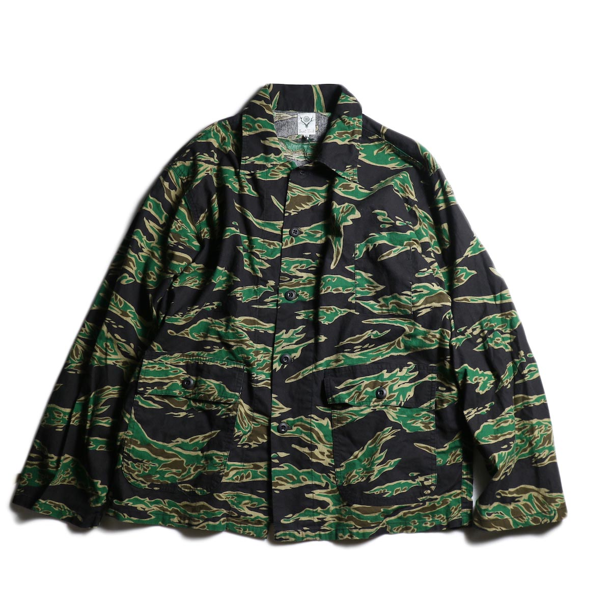 SOUTH2 WEST8 / Hunting Shirt - Printed Flannel / Camouflage (Tiger)