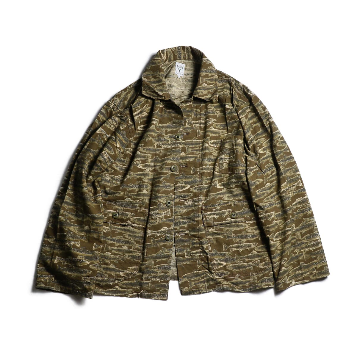 SOUTH2 WEST8 / Hunting Shirt - Printed Flannel / Camouflage (Trout)