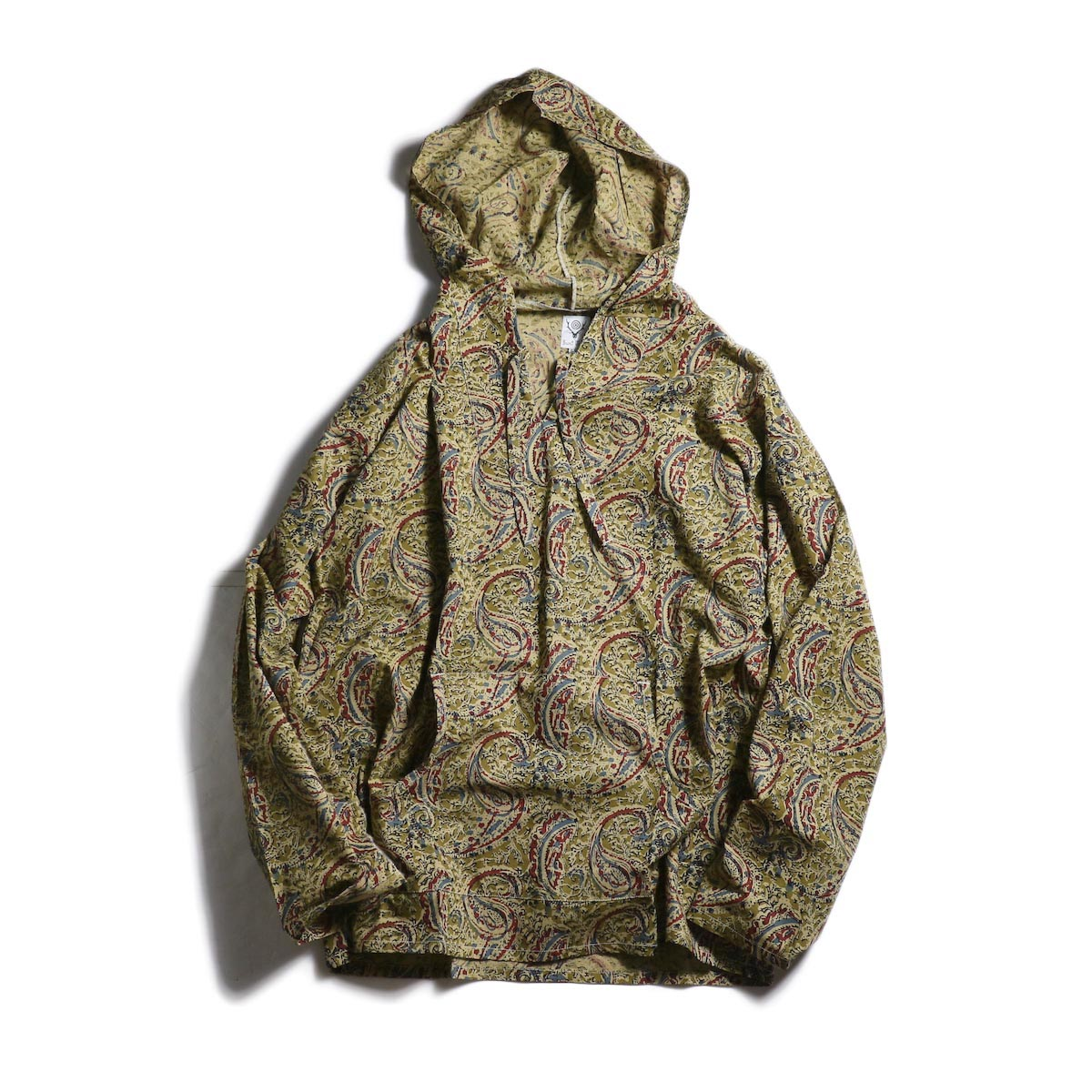 SOUTH2 WEST8 / Mexican Parka -Printed Flannel / Paisley (Olive)