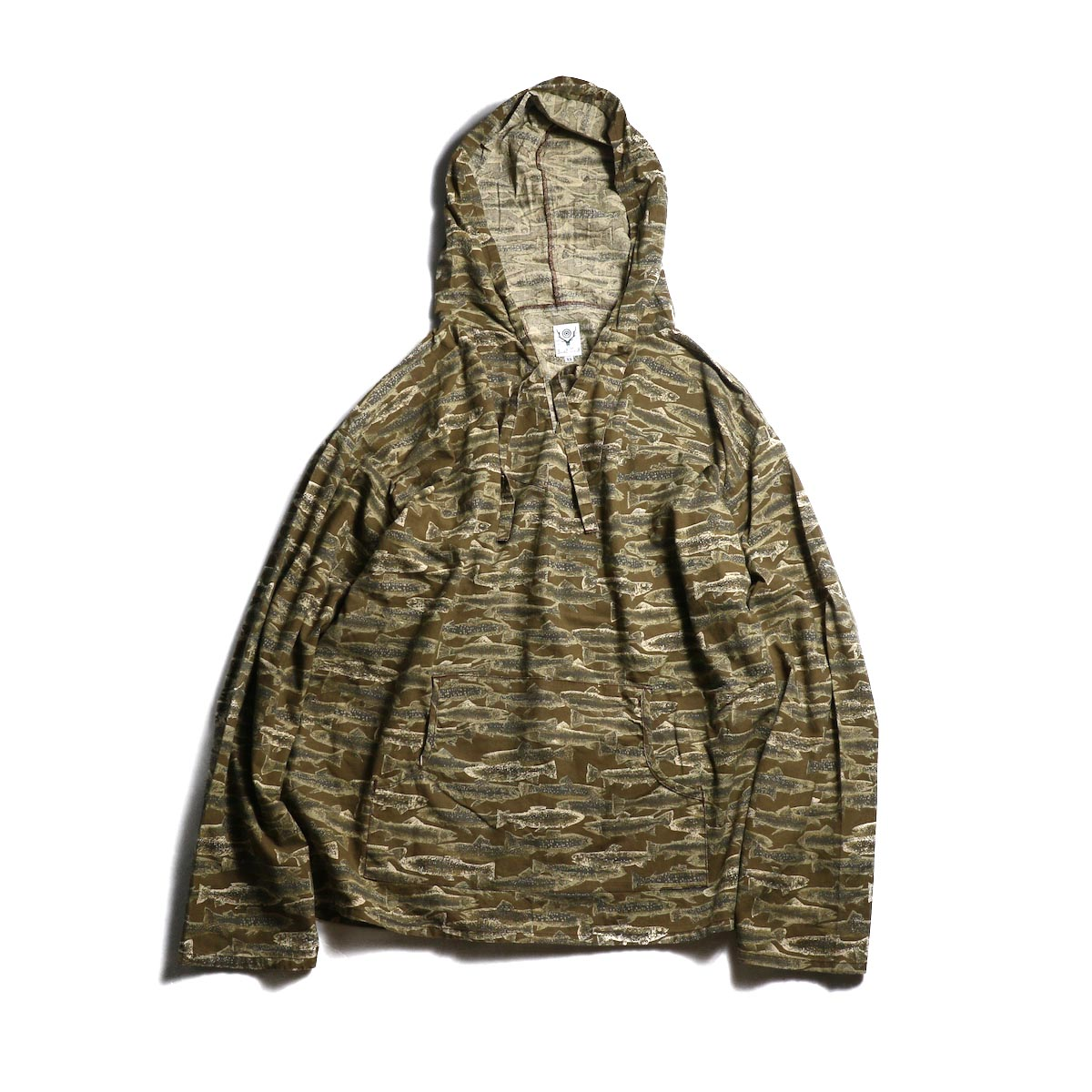 SOUTH2 WEST8 / Mexican Parka -PRINTED FLANNEL / CAMOUFLAGE (Trout)