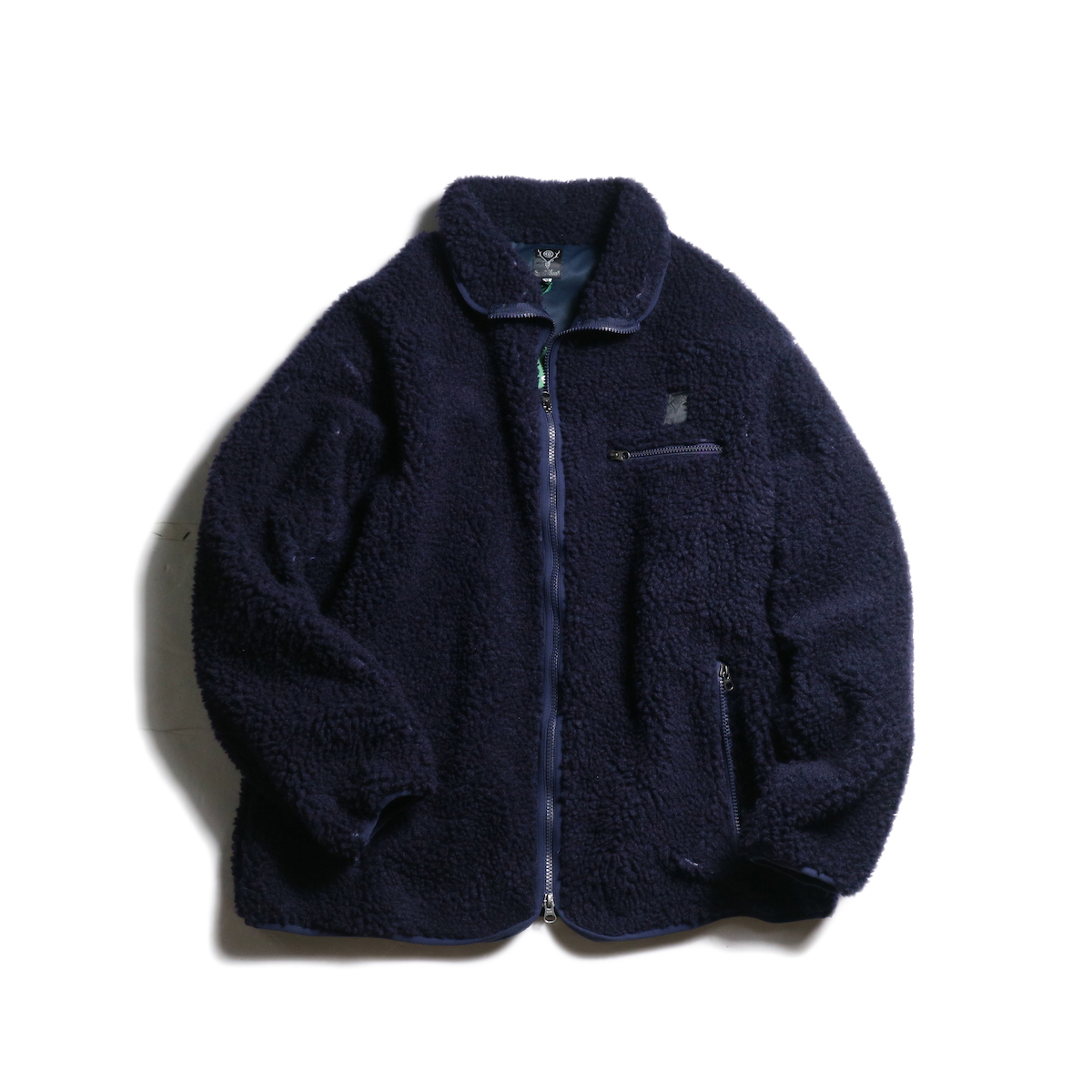 SOUTH2 WEST8 / Piping Jacket -Synthetic Pile (Navy)