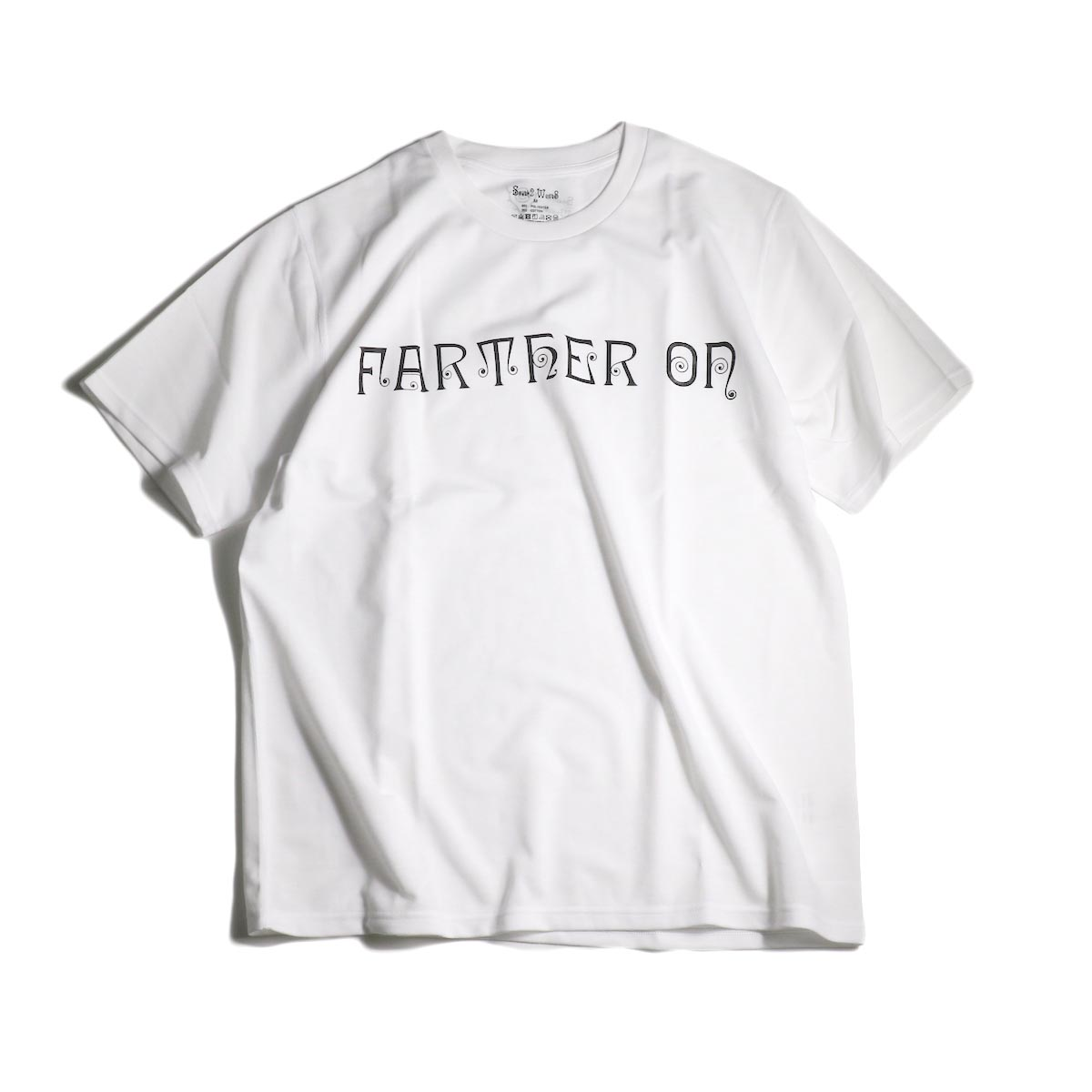 South2 West8 / S/S CREW NECK TEE - PE/C JERSEY / FARTHER ON (White)