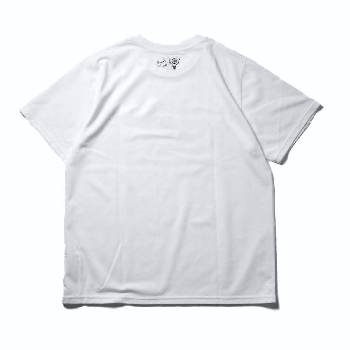 South2 West8 / S/S Crew Neck Tee -Rainbow Sleeves (White)背面