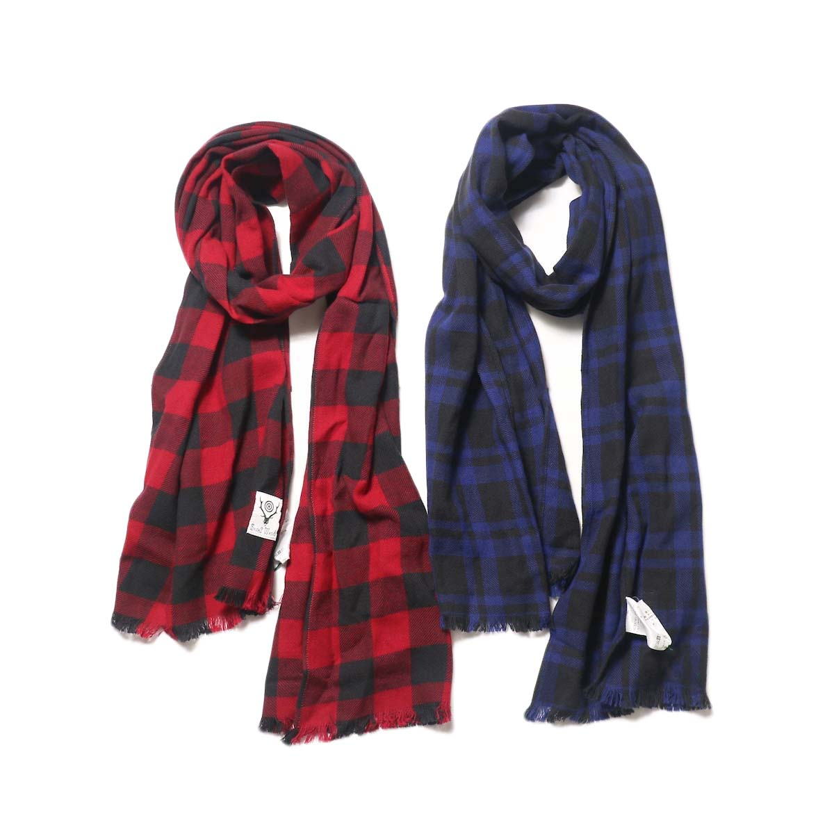 South2 West8 / Stole - Plaid Twill