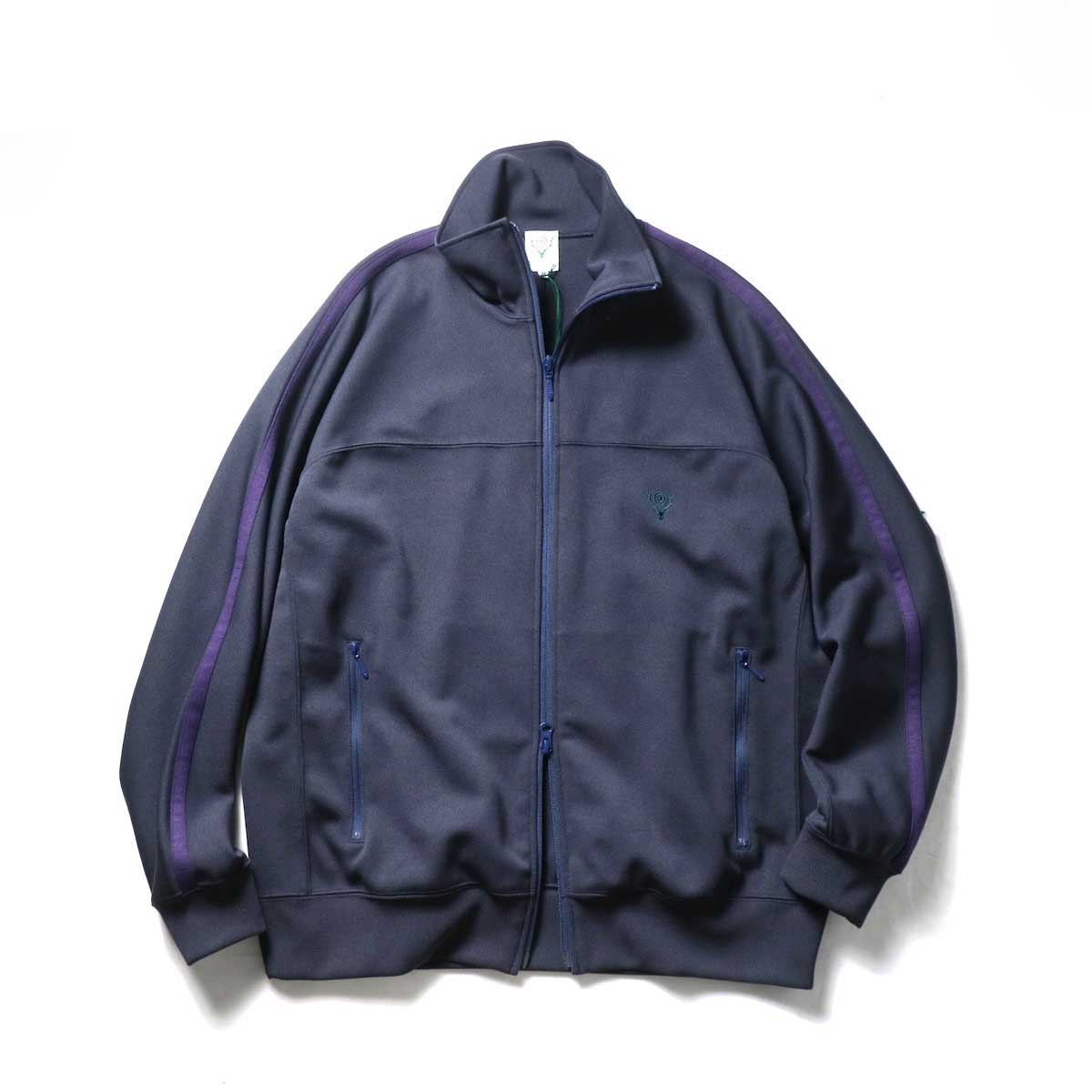 South2 West8 / Trainer Jacket -Poly Smooth (Navy)