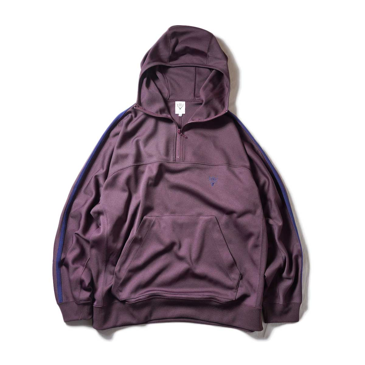South2 West8 / Trainer Hoody - Poly Smooth (Burgundy)正面
