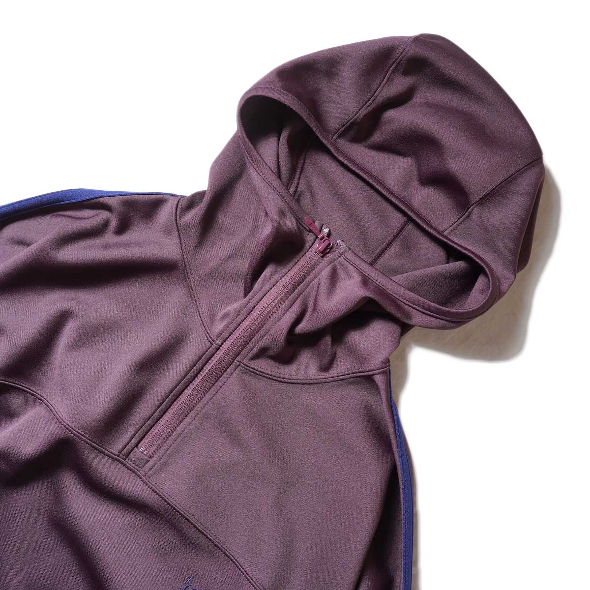 South2 West8 / Trainer Hoody - Poly Smooth (Burgundy)zip締めたver2