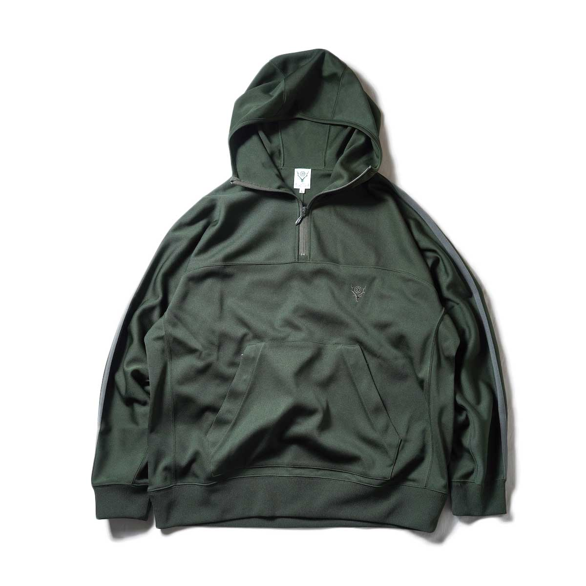 South2 West8 / Trainer Hoody - Poly Smooth (Green)正面
