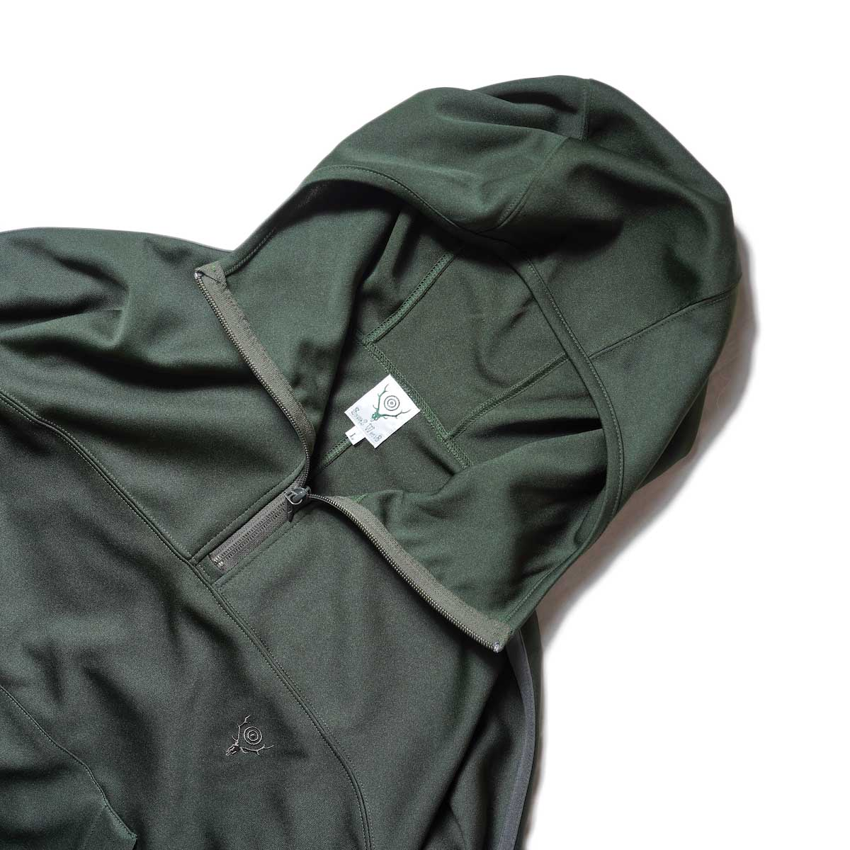 South2 West8 / Trainer Hoody - Poly Smooth (Green)襟