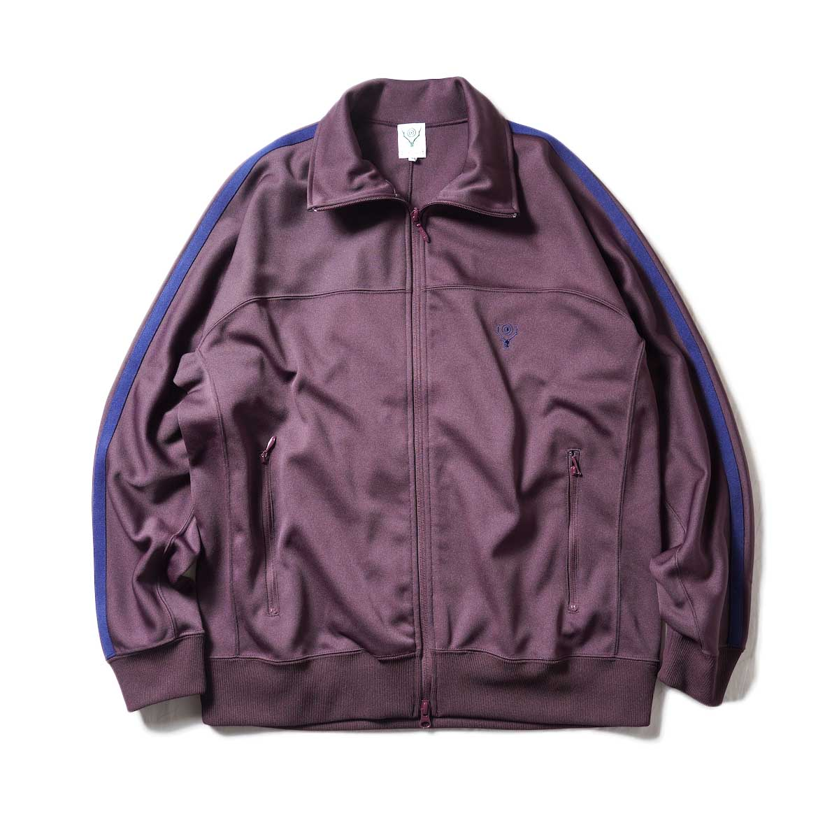 South2 West8 / Trainer jacket - Poly Smooth (Burgundy)正面