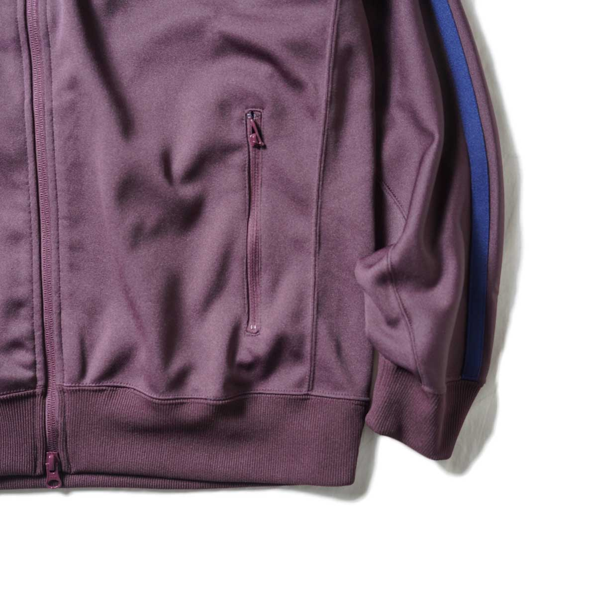 South2 West8 / Trainer jacket - Poly Smooth (Burgundy)袖、裾