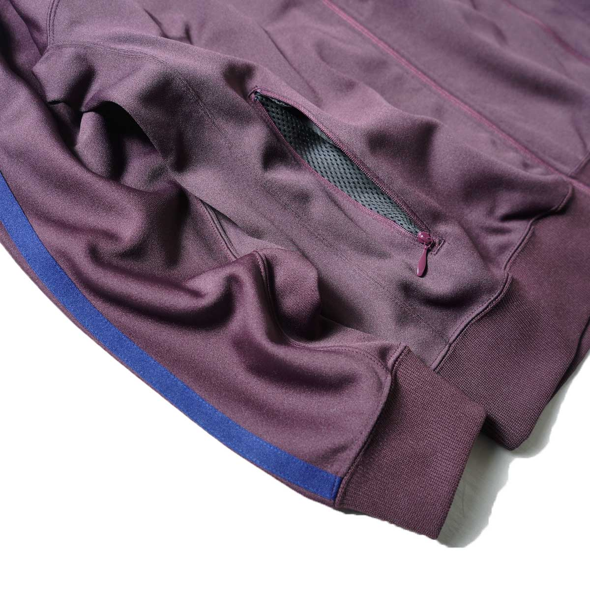 South2 West8 / Trainer jacket - Poly Smooth (Burgundy)ポケット