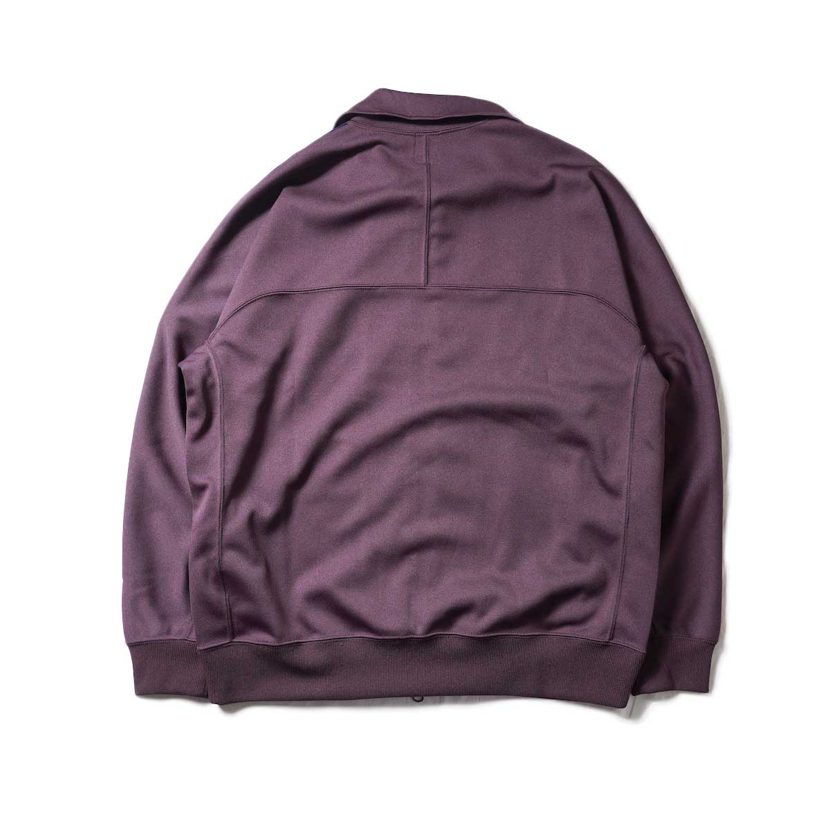 South2 West8 / Trainer jacket - Poly Smooth (Burgundy)背面