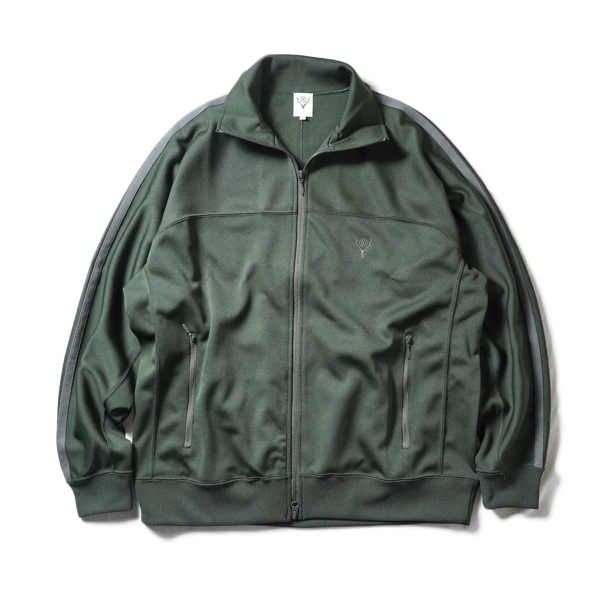 South2 West8 / Trainer jacket - Poly Smooth (Green)