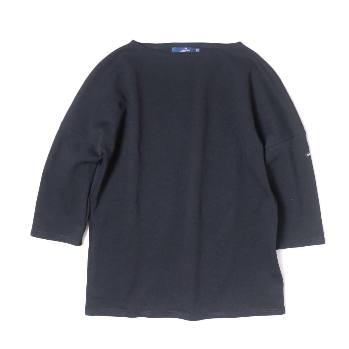 SAINT JAMES / CRAZSLOU (七分袖ドロップショルダー)(Noir) 正面