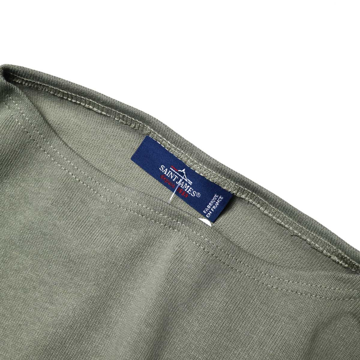 """SAINT JAMES / OUESSANT """"SOLID"""" (Olive)ボートネック、色"""