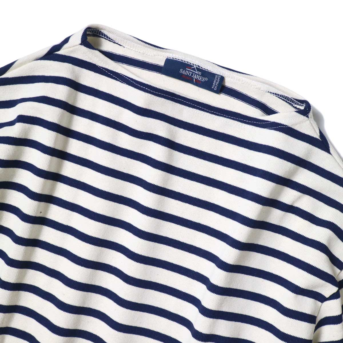 SAINT JAMES / OUESSANT SHORT SLEEVE SHIRTS (Ecru / Marine) ボートネック