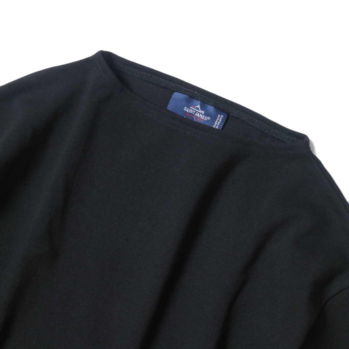 SAINT JAMES / OUESSANT SHORT SLEEVE SHIRTS (Noir) ボートネック