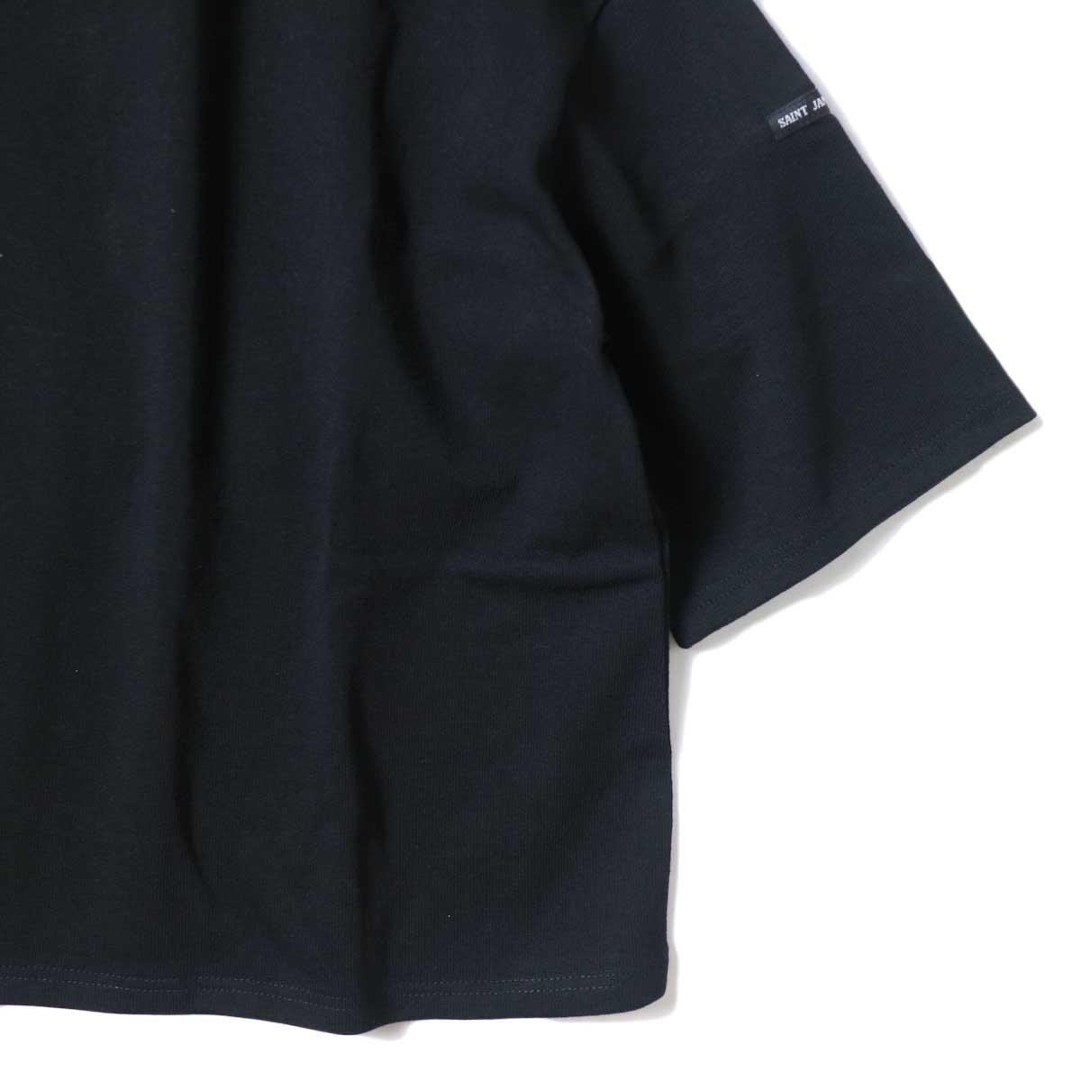 SAINT JAMES / OUESSANT SHORT SLEEVE SHIRTS (Noir) 裾・袖