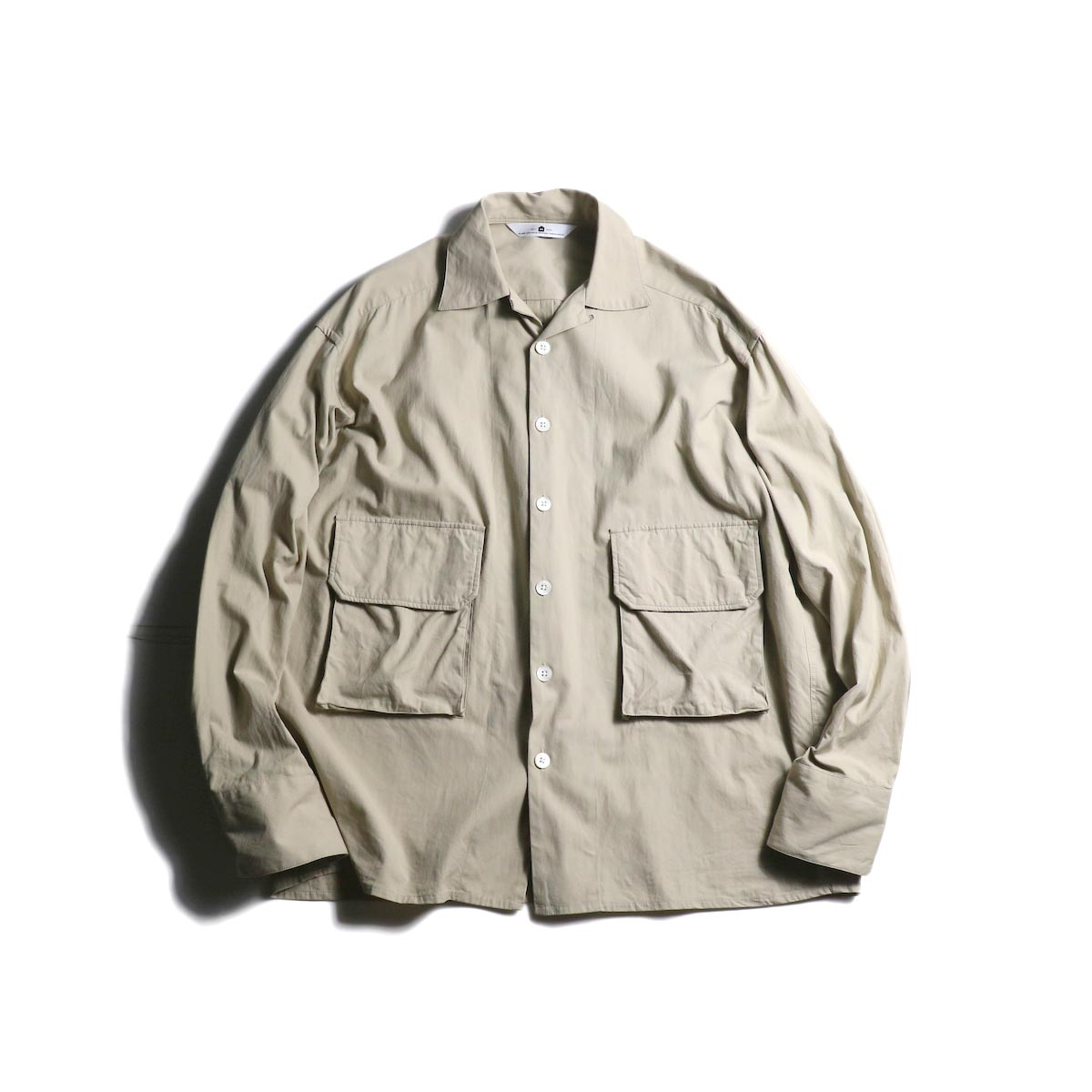 SGGM / Loop-top Shirt Flap Pocket (Beige Twill)