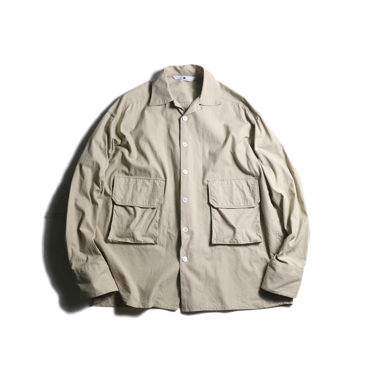 SGGM / Loop-top Shirt Flap Pocket (Beige Twill)