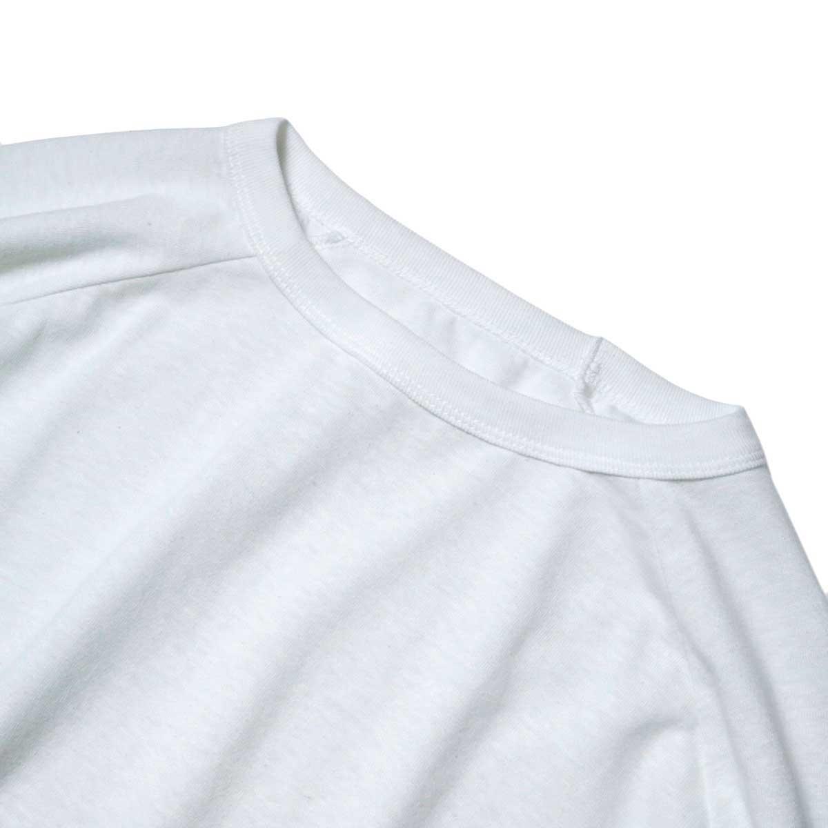 SOIL / DOLMAN SLEEVE CREW-NECK PULLOVER (Off White) ネック