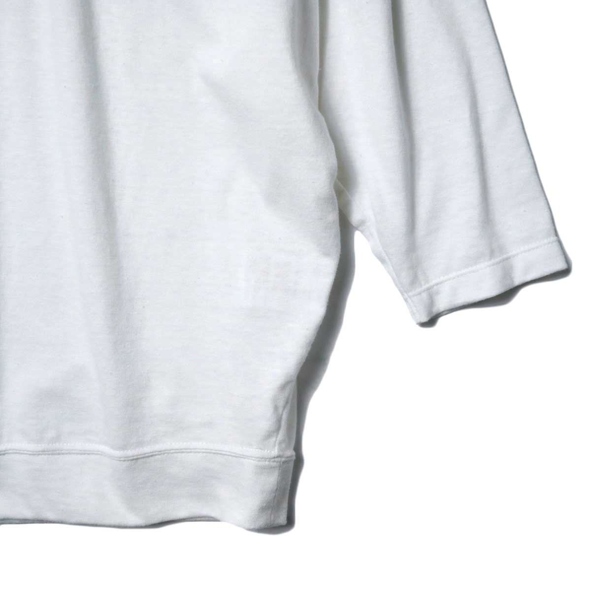 SOIL / DOLMAN SLEEVE CREW-NECK PULLOVER (Off White) 袖・裾