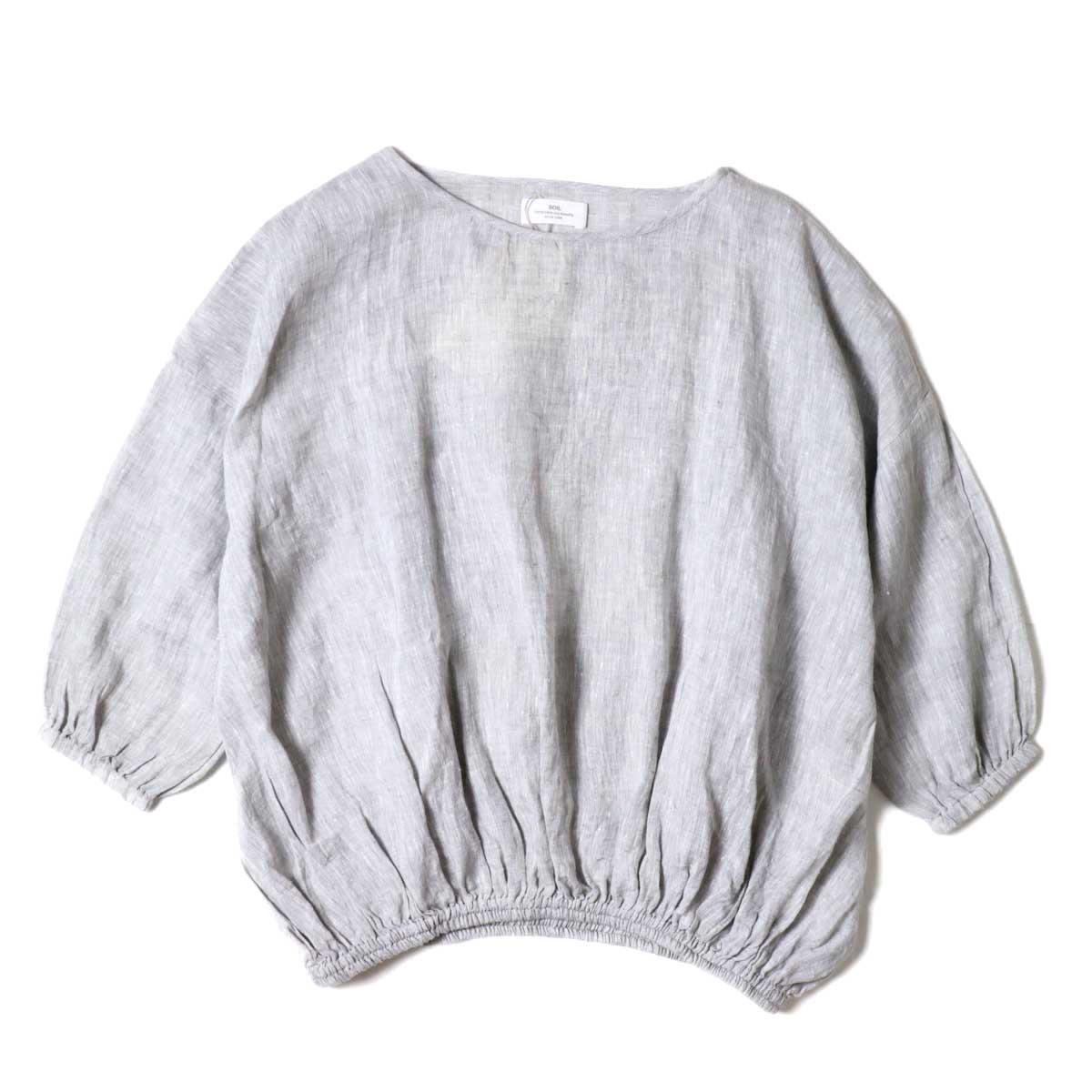 SOIL / GATHERED SMOCK (Grey)