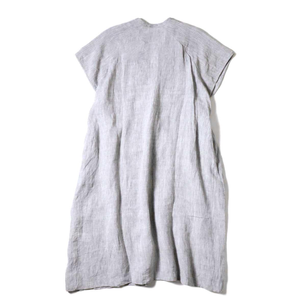 SOIL / V-NECK PINTUCK DREES (Grey) 背面