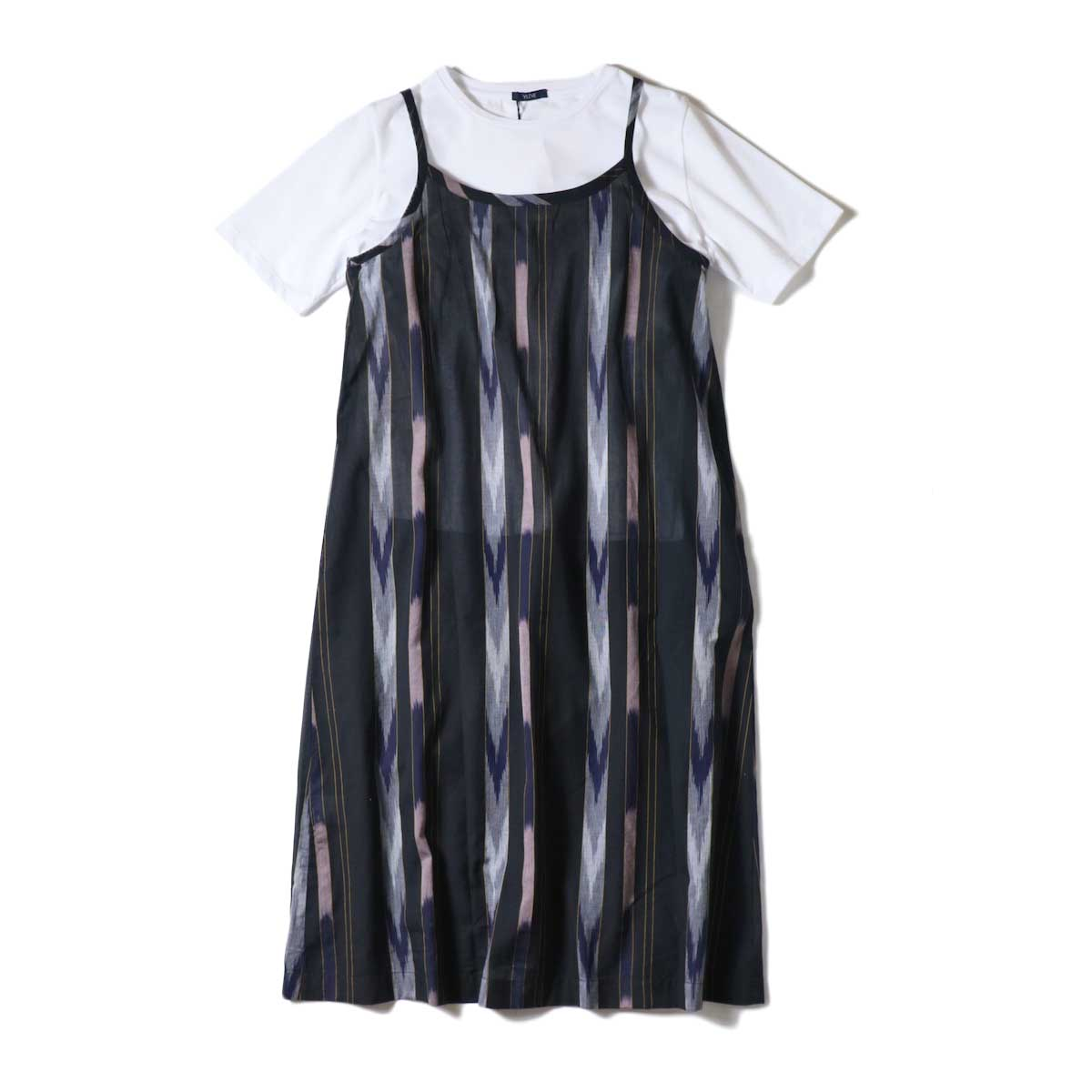SOIL / 2WAY CAMISOLE DRESS (Black Base)