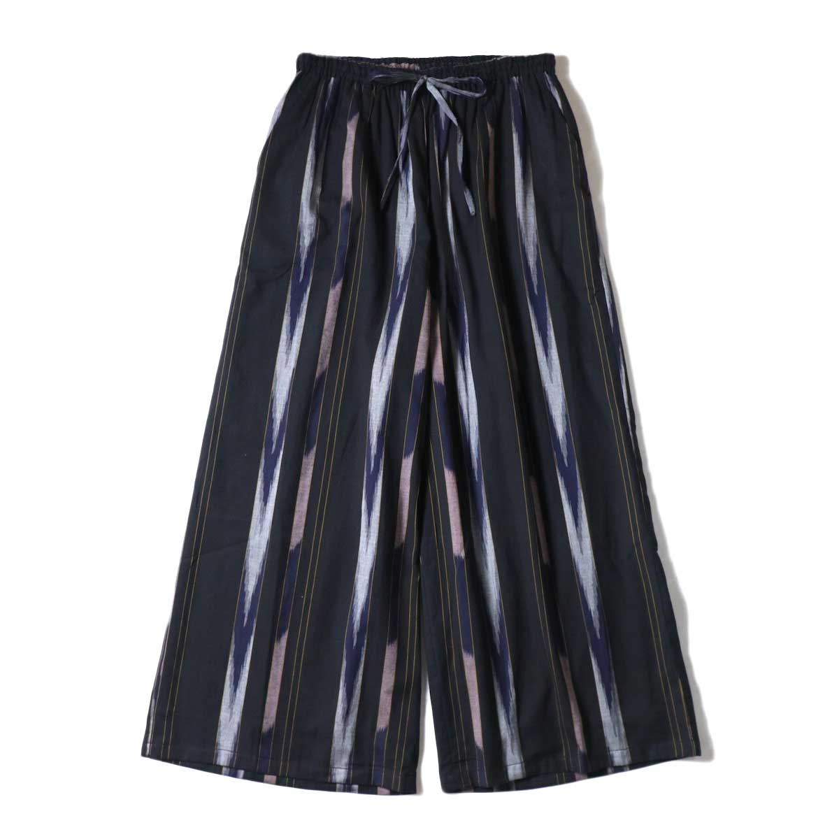 SOIL / WIDE EASY PANTS (Black Base)