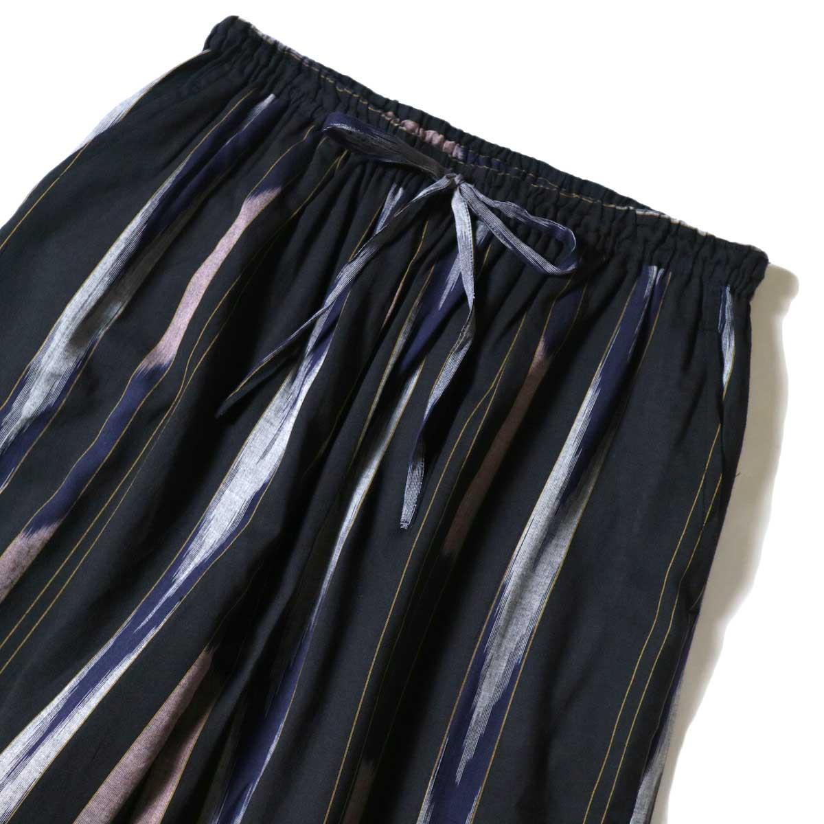 SOIL / WIDE EASY PANTS (Black Base) ウエスト
