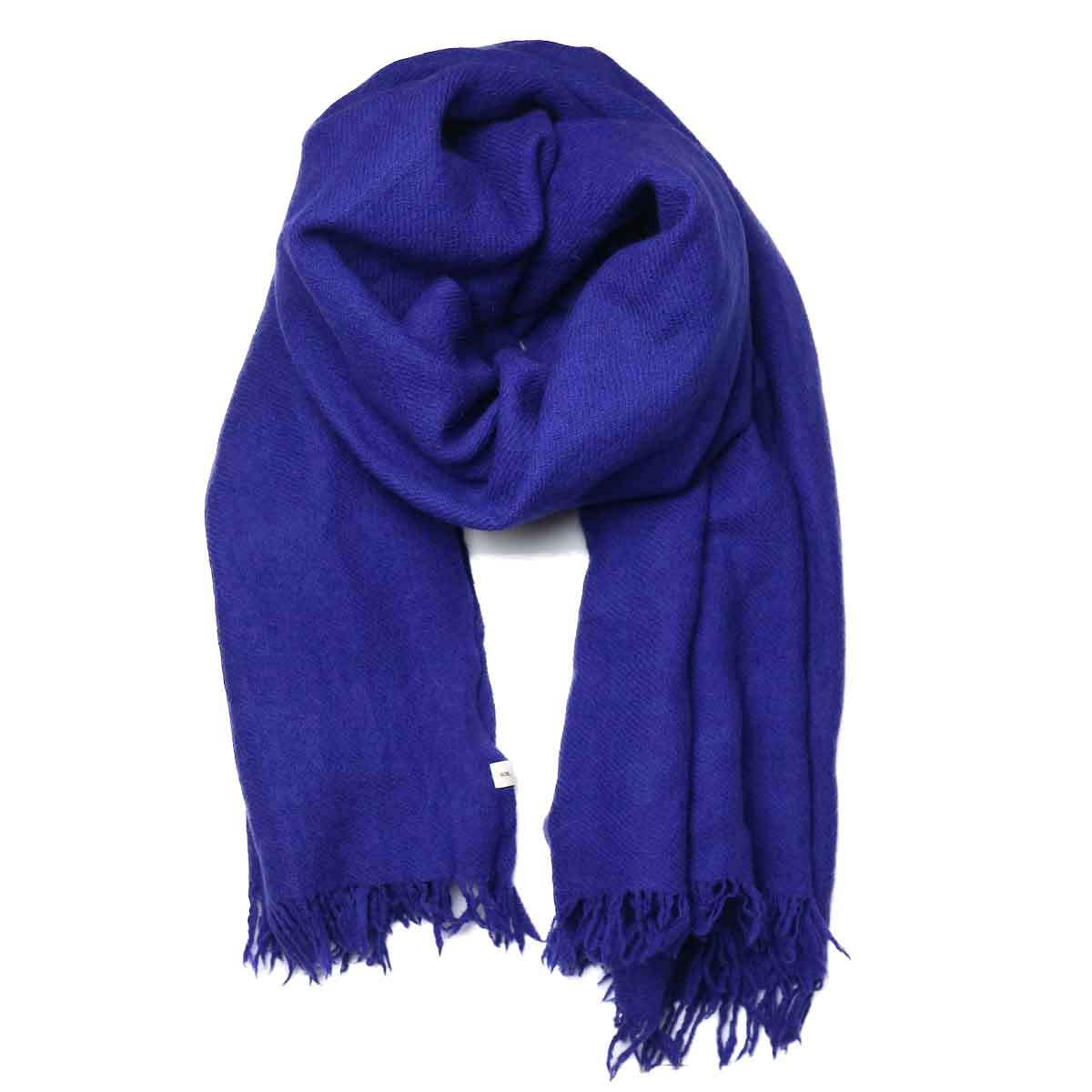 SOIL / MELANGE BOILED WOOL PLAIN STOLE (Purple)