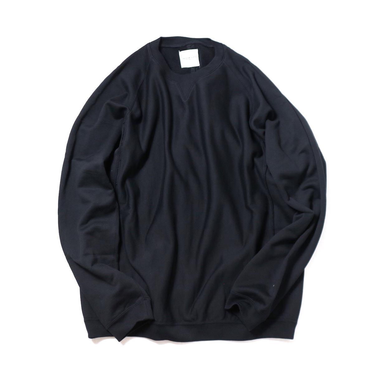 The Soloist / swc0011aAW18 oversized crew neck freedom l/s sweatshirt. -black-