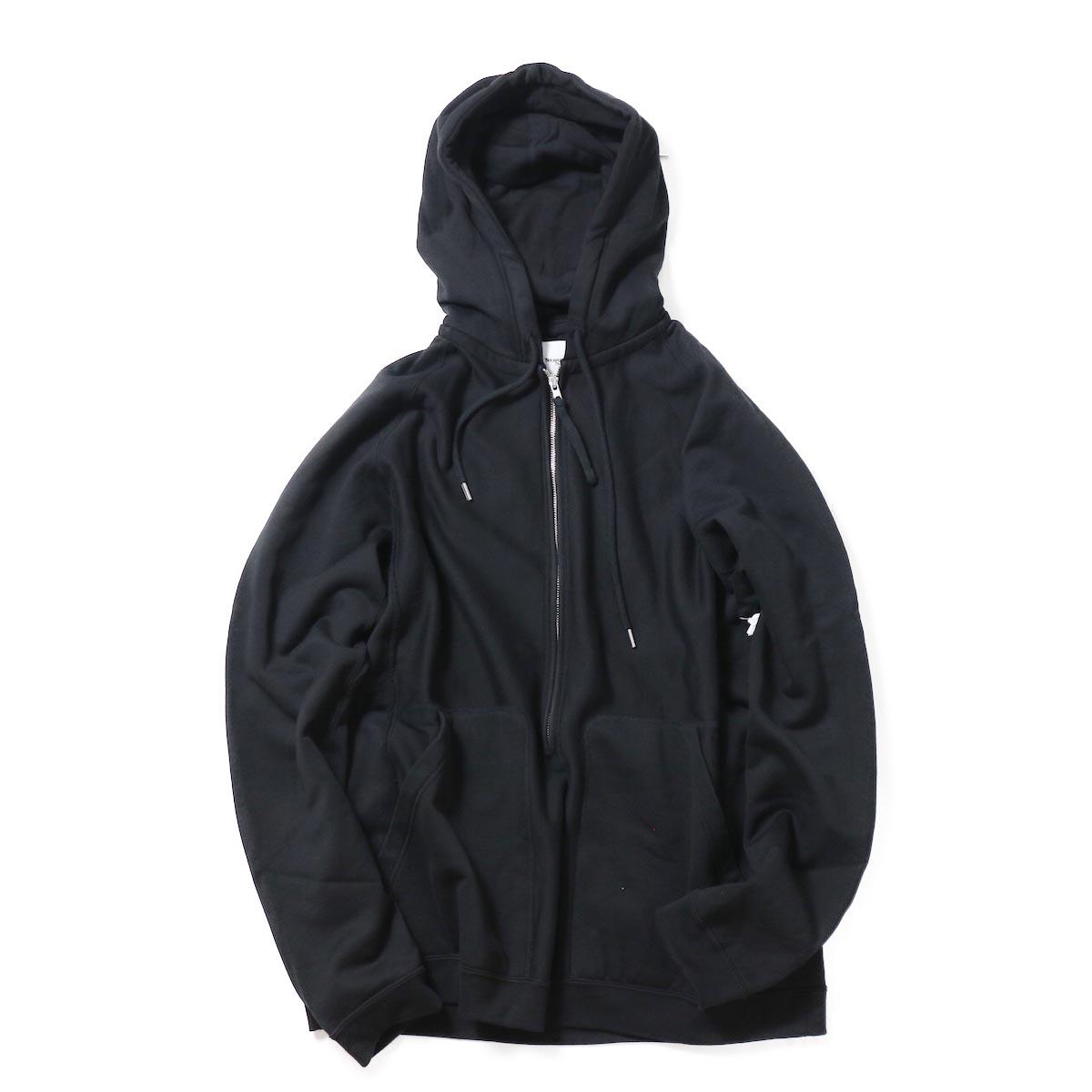 The Soloist / swc.0013aAW18  oversized long zip freedom l/s hoodie. -Black